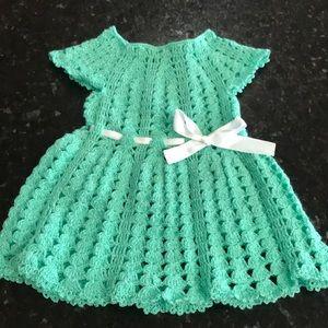 Other - Crochet green baby dress